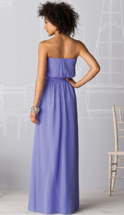 After Six Chiffon Blouson Long Bridesmaid Dress 6615 By
