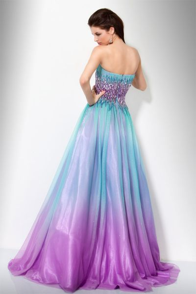 Jovani aqua purple ombre glitter ball gown 158903 french for Purple ombre wedding dress