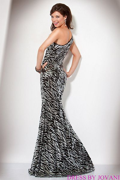Zebra print mermaid prom dresses