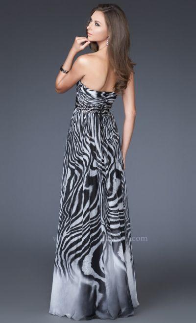 Zebra Plus Size Prom Dresses 96