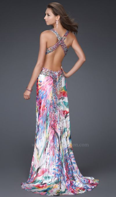 Multicolored Prom Dress