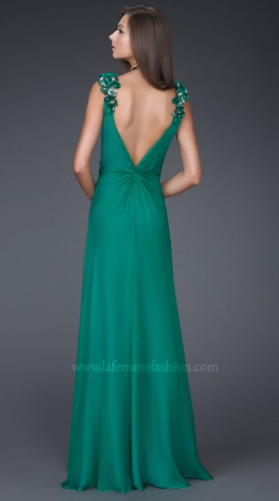 Dancing with the Stars by La Femme Emerald V Neck Prom Dress 16686 ...