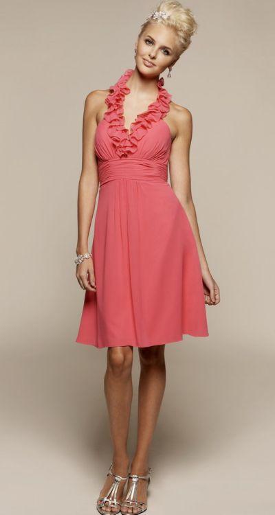 Liz Fields Ruffle Bridesmaids Dresses 362: French Novelty