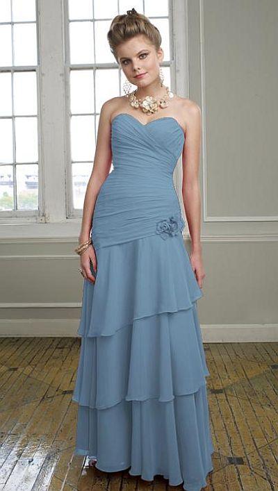 208d7927b885 Mori lee tiered chiffon long bridesmaid dress french novelty jpg 400x707 Mori  lee cornflower
