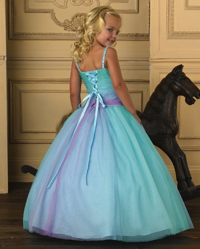 Alternate view of the Tiffany Princess Girl Glitter Tulle Pageant Dress 13217 by House of Wu image