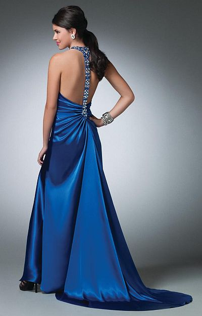 Alfred Angelo Beaded T Back Long Prom Dress 3502 French