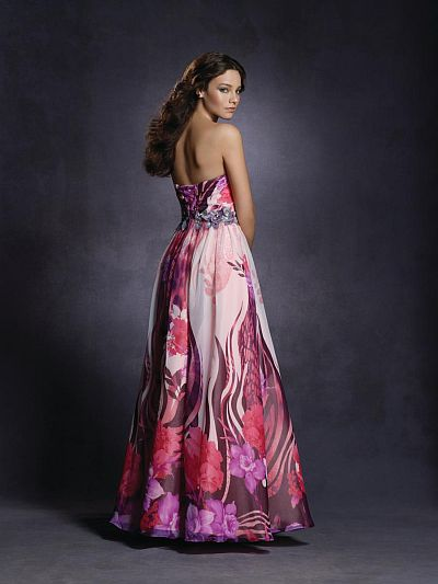 Twilight Floral Print Prom Dress 4032 By Alfred Angelo
