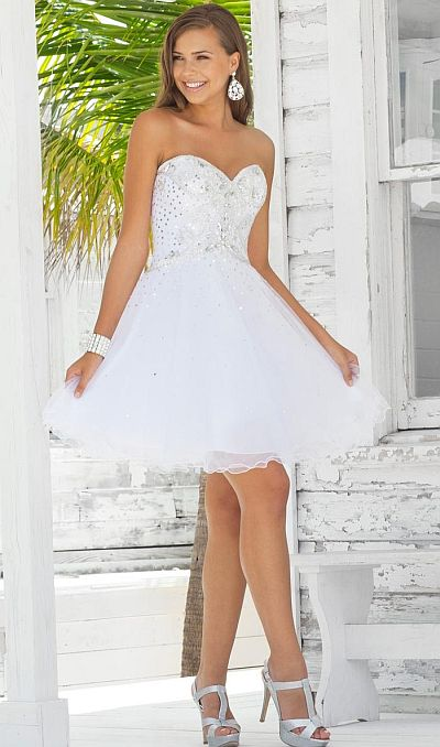 Blush Prom Beaded Tulle Short Party Dress 9342: French Novelty