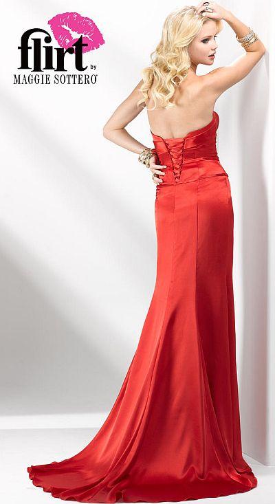 Flirt Chic And Timeless Slinky Satin Prom Dress P1610