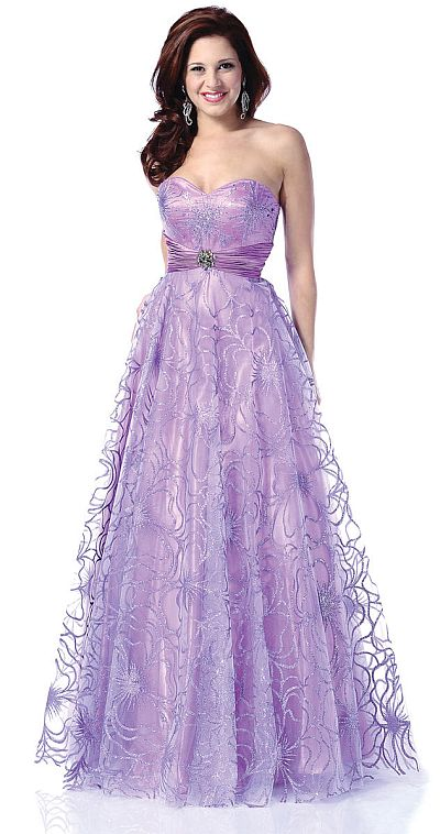 Johnathan Kayne Glitter Ball Gown Prom Dress 239: French Novelty