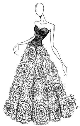 Quinceanera Dresses Coloring Pages.  ball gown wedding dresses AOL Image Search Results