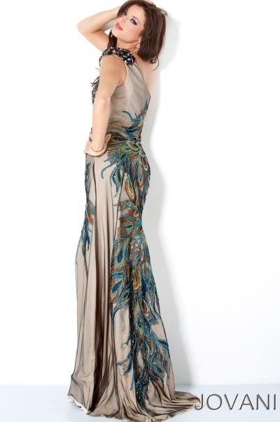 Peacock Designed Prom Dresses