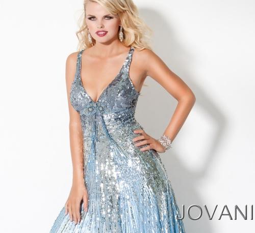 Light Blue Sequin Dress - KD Dress