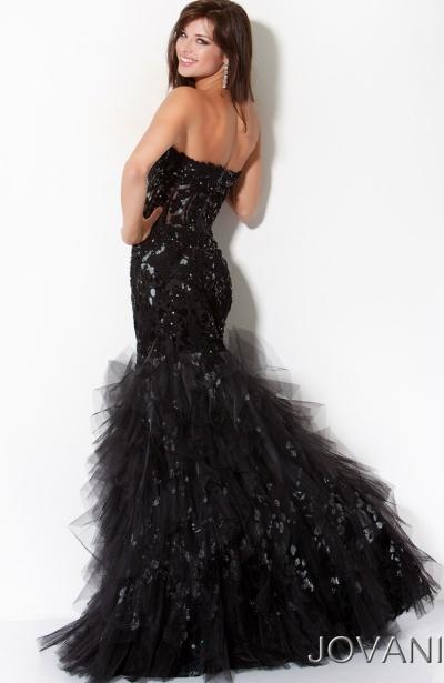 Jovani Prom Dresses Yellow & Black Bow Mermaid - Plus Size ...