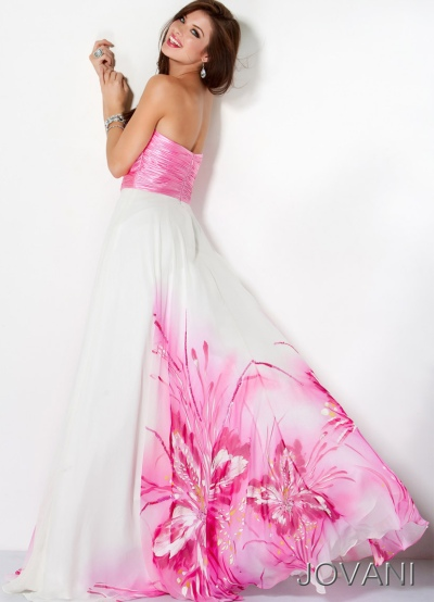 White And Pink Prom Dresses - Long Dresses Online