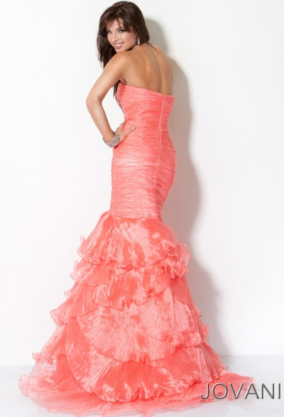 Ruffle Mermaid Prom Dress Prom Dress With Ruffle