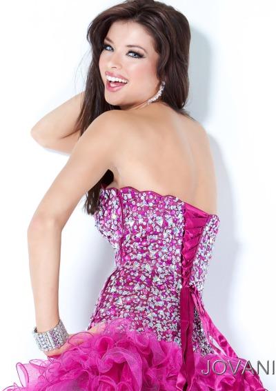 Jovani Short Ruffle Prom Dress 3572: French Novelty