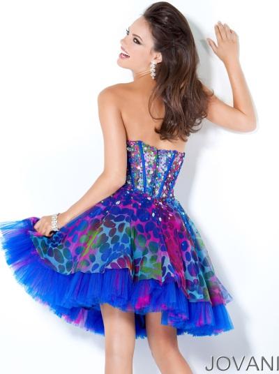 Jovani Short Multi Color Prom Dress 3806: French Novelty