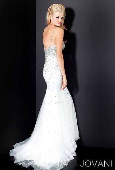 Jovani Beaded Mermaid Formal Dress 4432: French Novelty