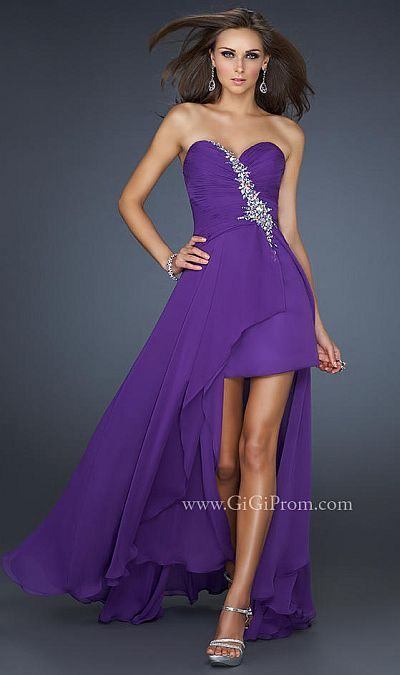 Prom Dresses 2012 GiGi High Low Prom Dress 17375 by La Femme ...