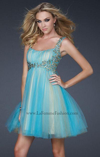 La Femme Goddess Inspired Short Prom Dress 17500: French