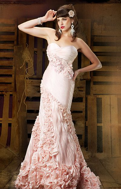 MacDuggal Couture Pleated Panel Red Carpet Evening Dress 78364D ...