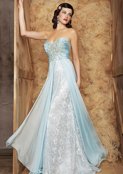 Macduggal Couture Classic Ice Princess Ball Gown 78437md