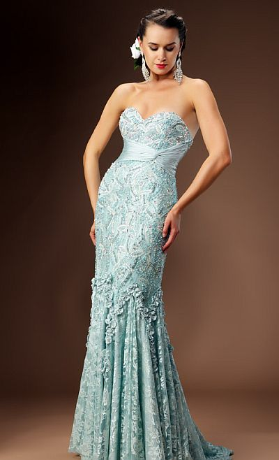 Macduggal Couture Exquisite Lace Evening Dress 80056d French Novelty