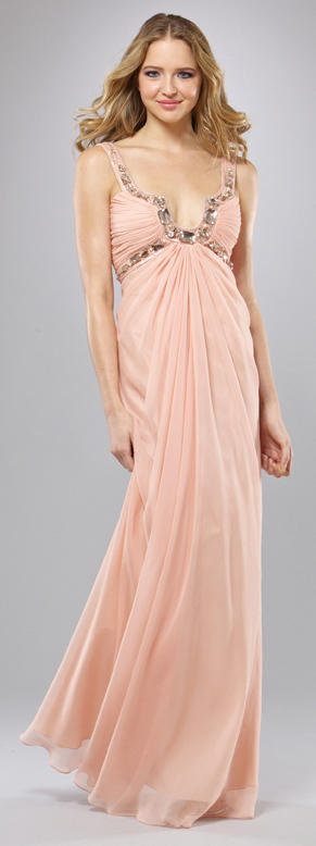LM Collection by Mignon Light Peach Prom Dress HY0561: French Novelty
