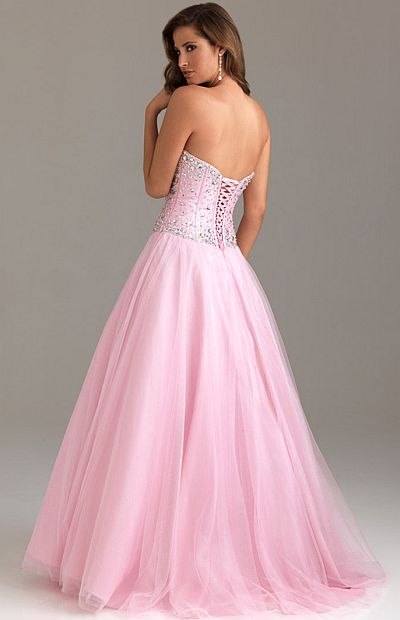 Lace Up Back Prom Dresses