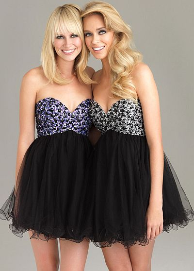 b636315e70f Night Moves Babydoll Short Prom Dress 6487  French Novelty