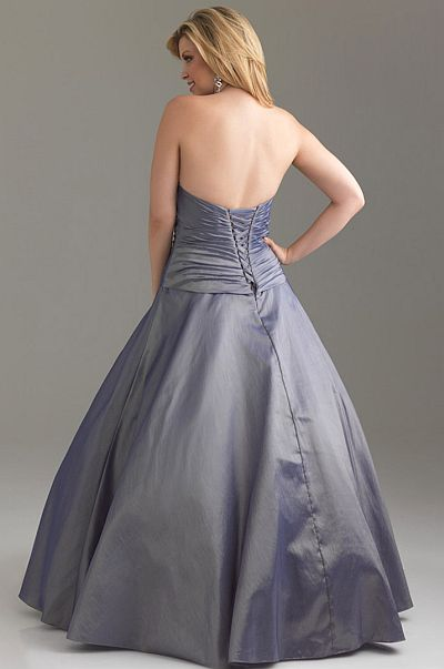 7f496552e63 Night Moves Plus Sized Rich Taffeta Prom Dress 6524W  French Novelty