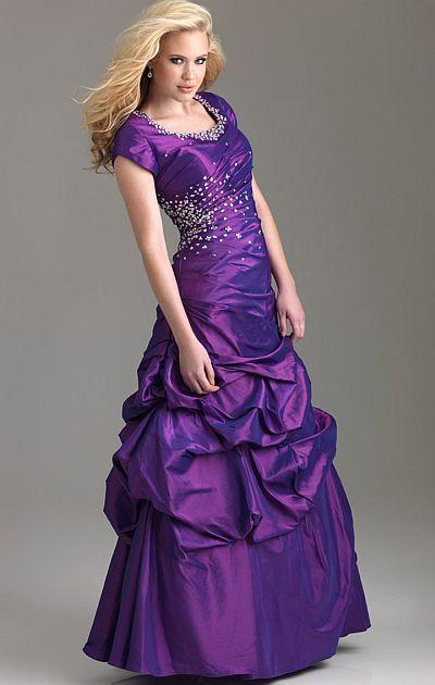 Modest Purple Dresses