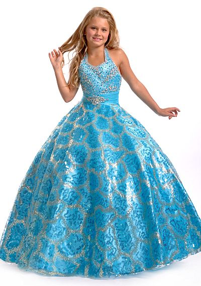 Perfect Angels Girls Sparkle Sequin Pageant Dress 1418 by Party ...
