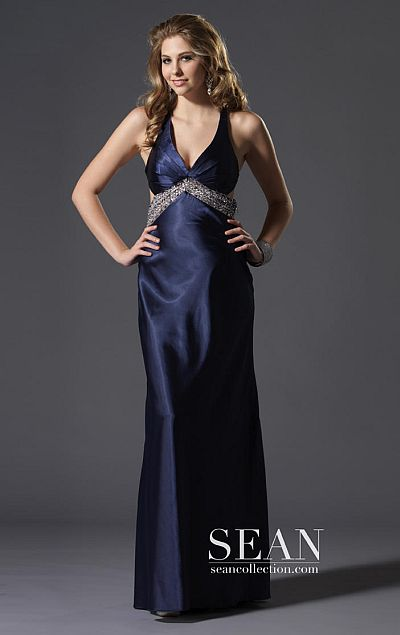 038d2a30334 Sean Express Open Back Prom Dress with Detailed Train 90054  French ...