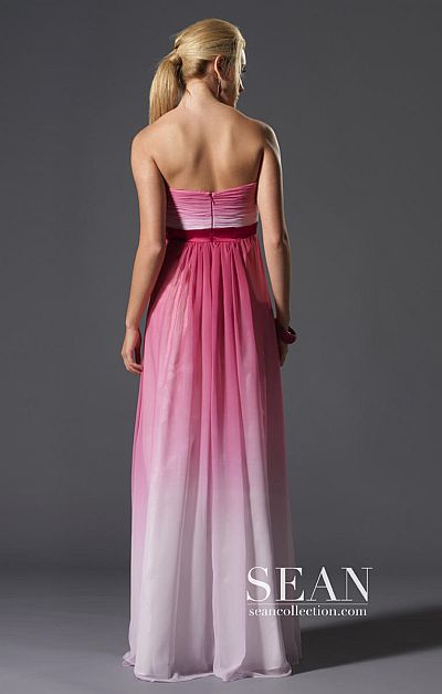 22bdb3b2090 Sean Express Pink Ombre Prom Dress 90071  French Novelty