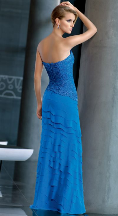 VM Collection 71244 Metallic Lace Formal Dress: French Novelty