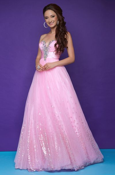 Pink By Blush 5226 Silver Stone Ball Gown French Novelty