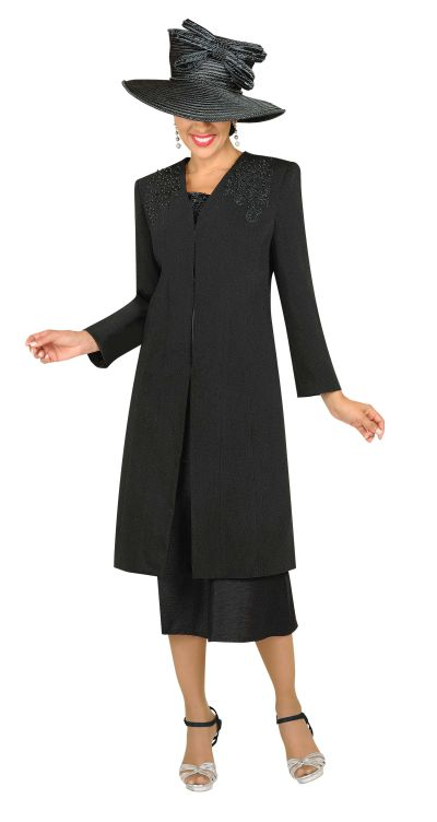 GMI G3813 Womens Church Suit with Long Jacket - French Novelty
