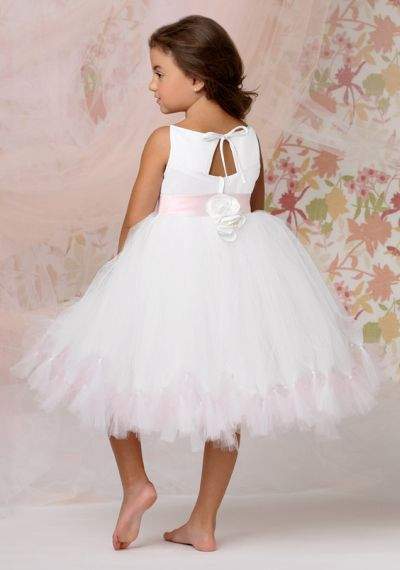 Sweet Beginnings L296 Knee Length Flower Girls Tutu Dress