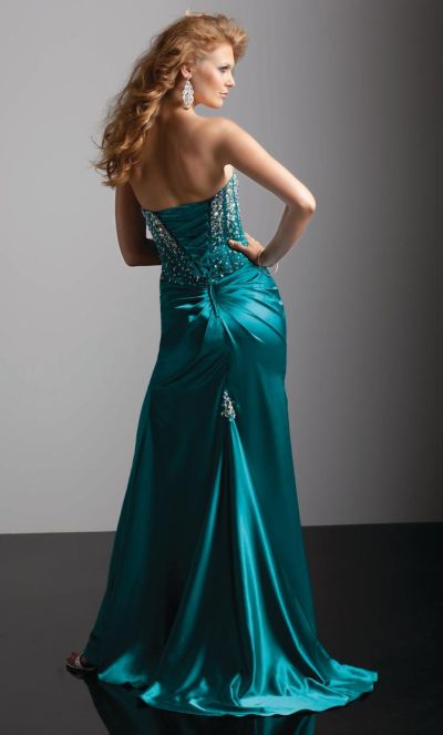 Flaunt by Mori Lee 93219 Lace Up Corset Formal Dress: French Novelty