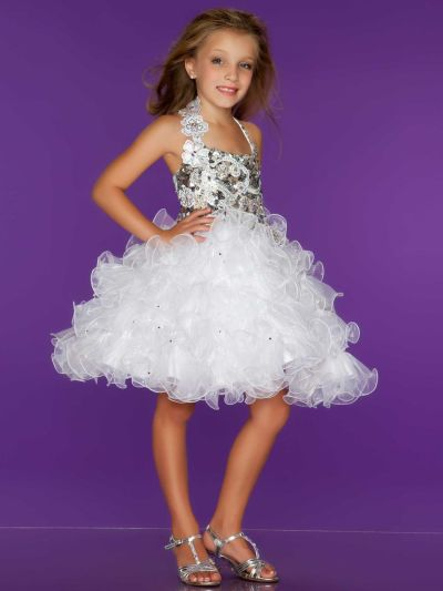 Sugar by Mac Duggal 42771S Girls Short Cupcake Pageant Dress ...