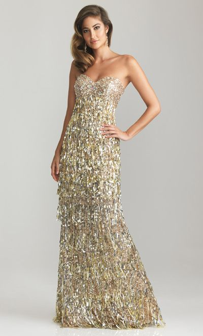 Fringe Sequin Dress