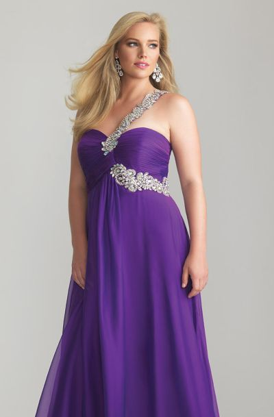 9dc396845de Night Moves 6778W One Strap Plus Size Formal Dress  French Novelty