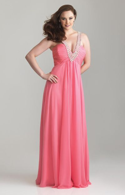 8063ae4deb2 Night Moves 6791W Ruched Empire Waist Plus Size Gown  French Novelty