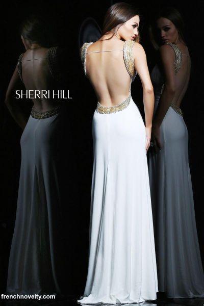Sherri Hill 1597 Open Back Evening Dress: French Novelty