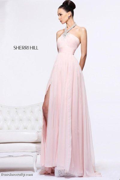 Sherri Hill 1906 Halter Long Dress: French Novelty