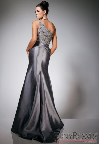 Tony Bowls Evenings TBE11311 Silver Shantung Formal Dress: French ...