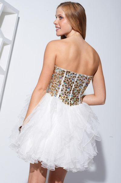 f3c882b46e Terani P1581 Crystal Corset and Tulle Short Party Dress  French Novelty
