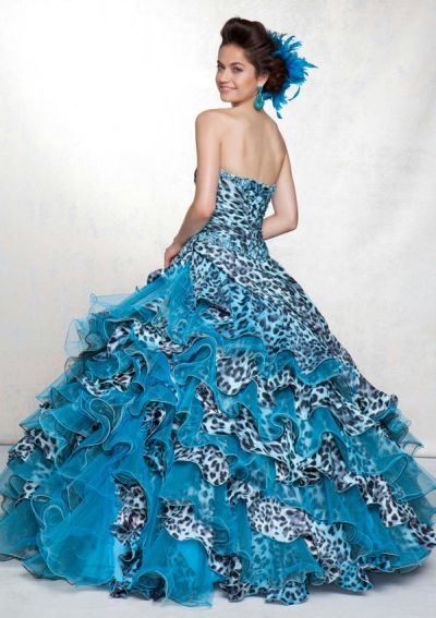Print Quinceanera Dress by